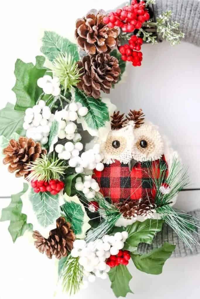 owl wreath - Amanda Seghetti