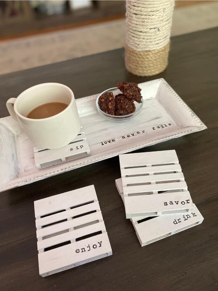 styled tray and coasters - Amanda Seghetti