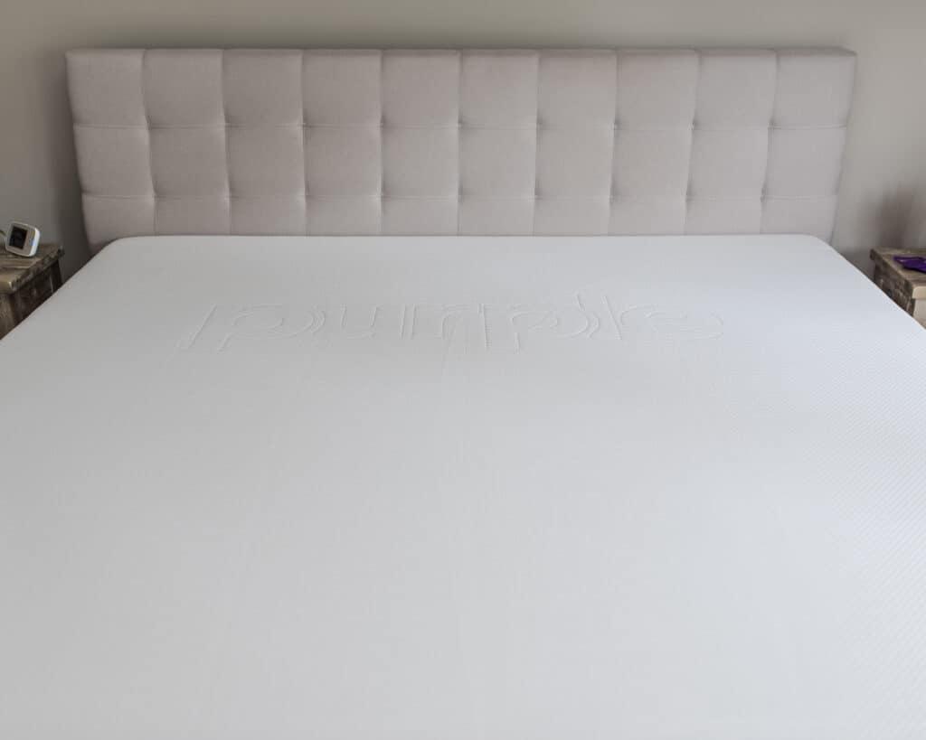 top down of king size purple mattress