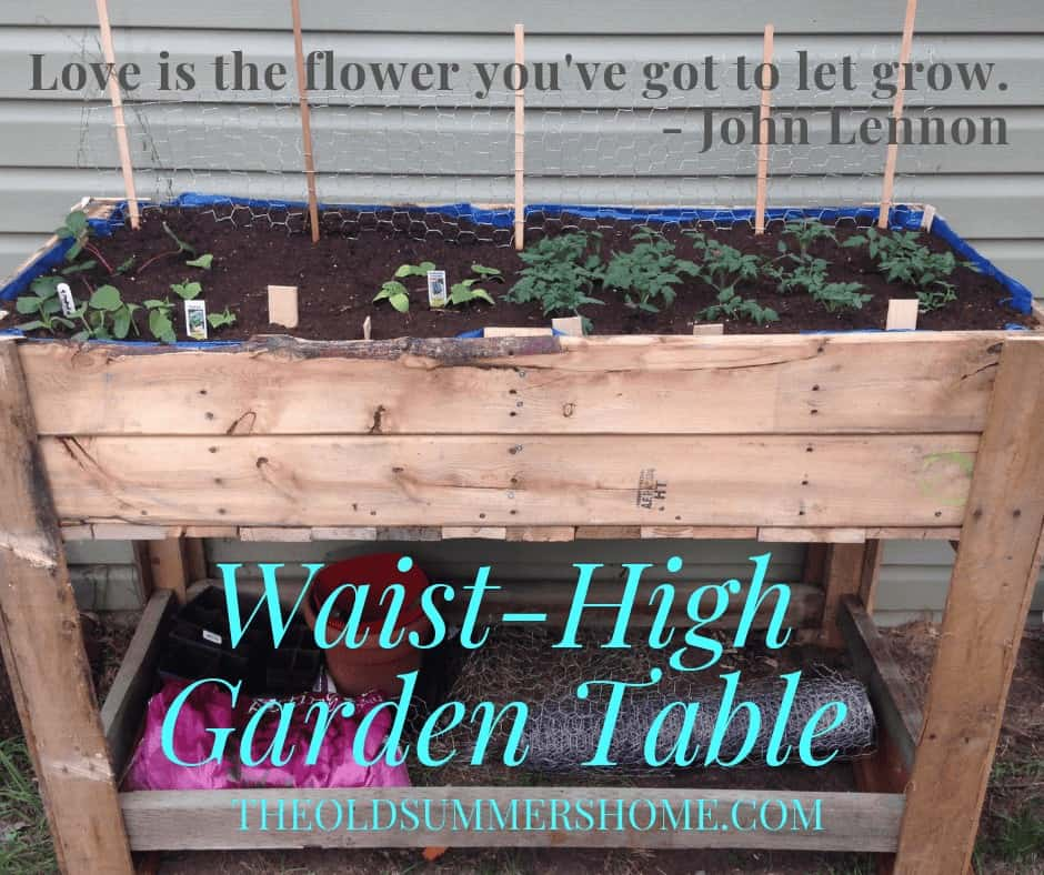 waist high garden table