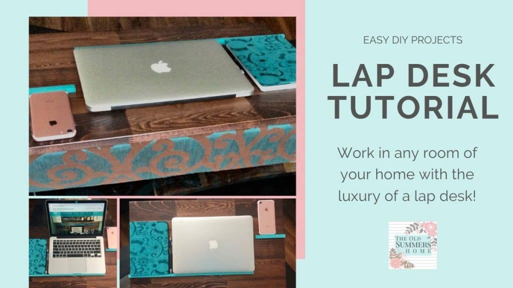 No Sew lap desk tutorial