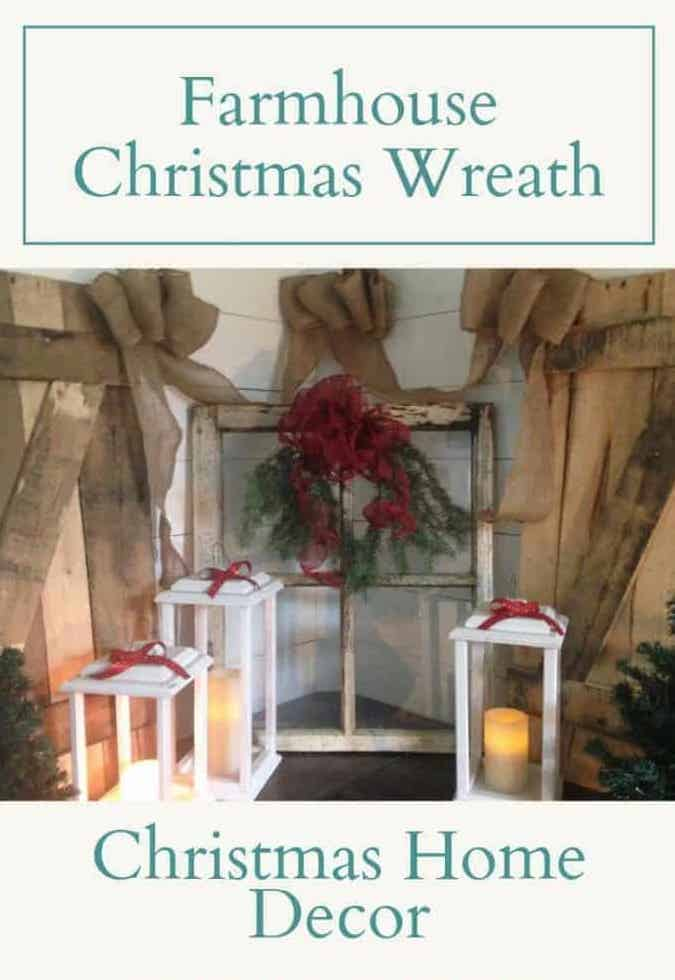 Farmhouse Christmas Wreath | Easy DIY Tutorial