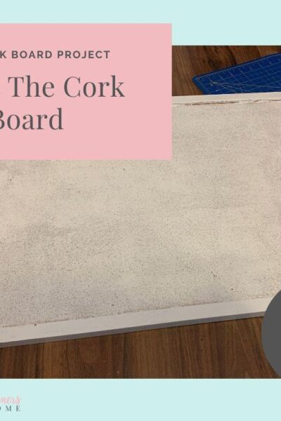 DIY Cork Board Project 30 Minute Easy Office Makeover Project