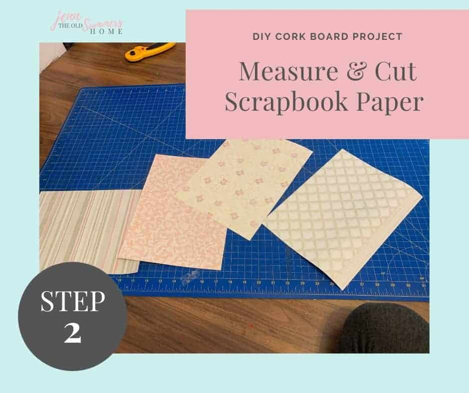 measure your cork board