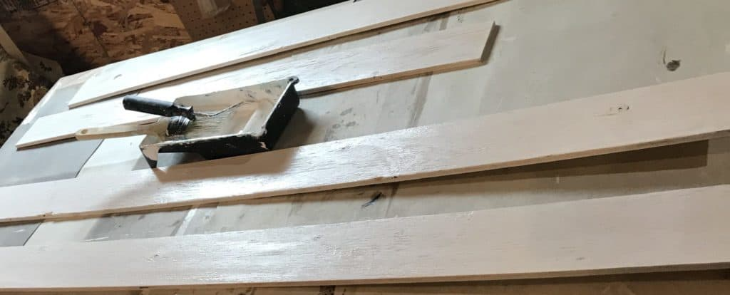 paint the trim boards
