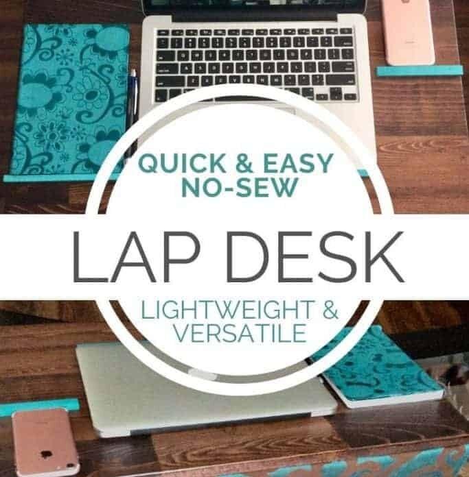 diy lap desk tutorial pin