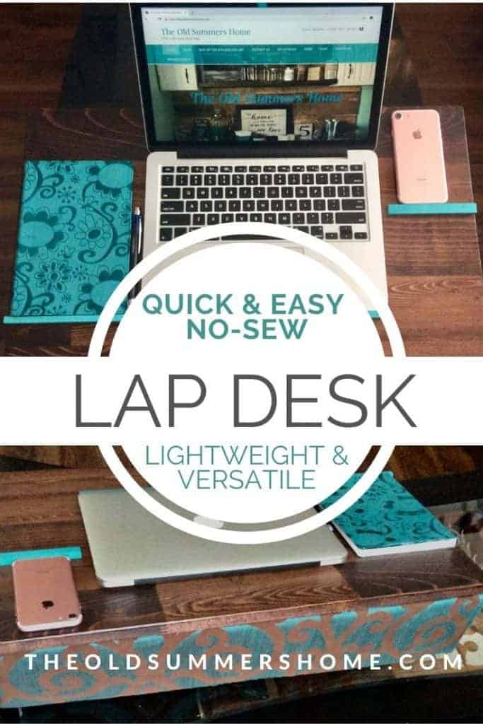 diy lap desk tutorial pin