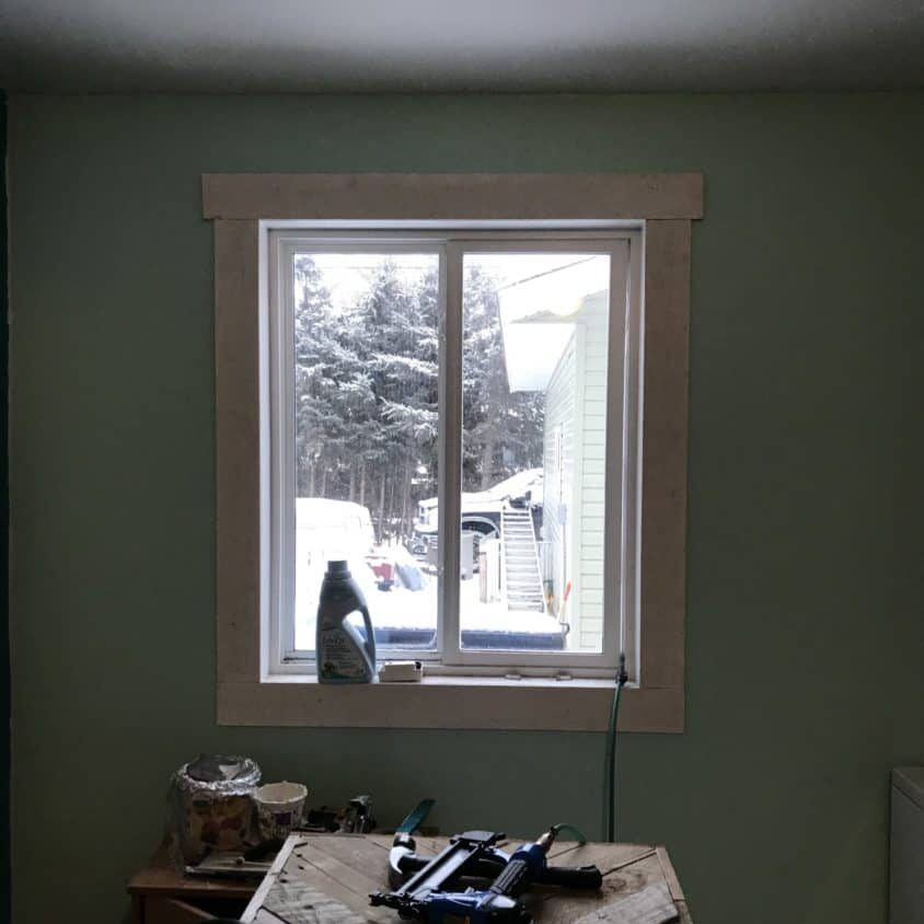 install farmhouse trim on windows