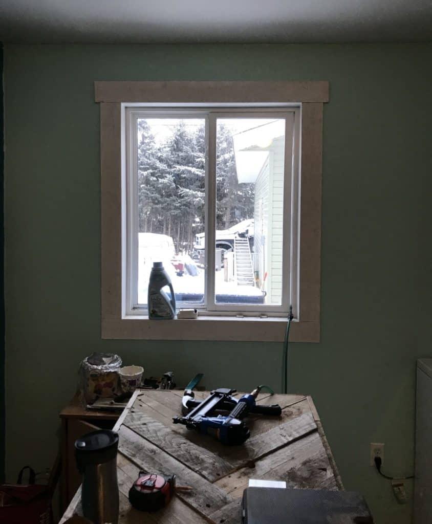 install farmhouse trim on windows