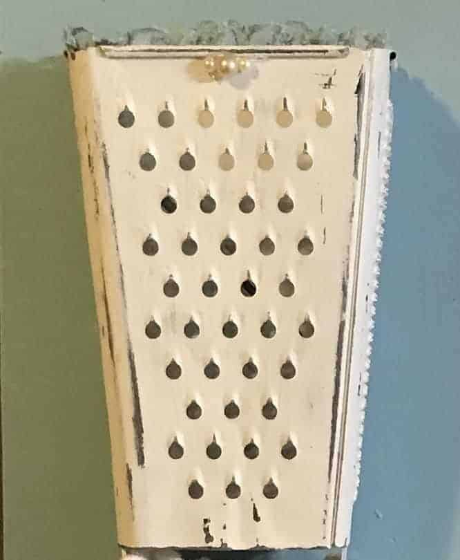 painted rustic cheese grater