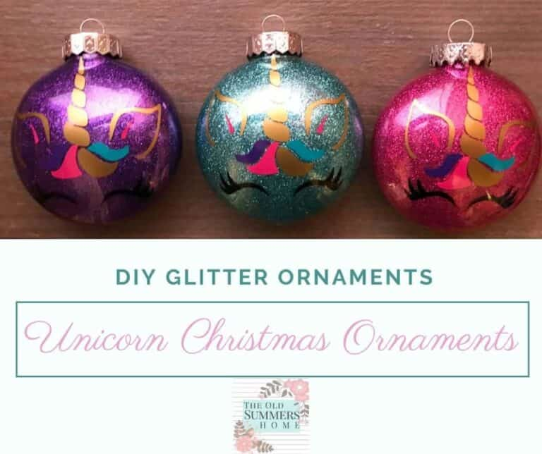 Easy DIY Glitter Ornaments for Christmas