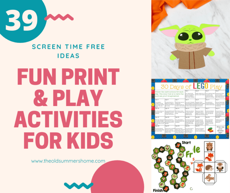39 Fun Print & Play Activities for Kids
