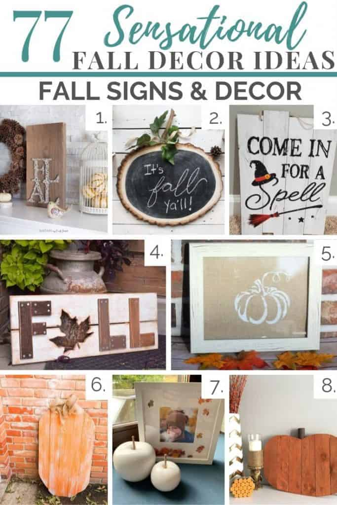 fall signs and decor