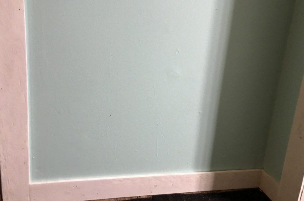 farmhouse trim on baseboards