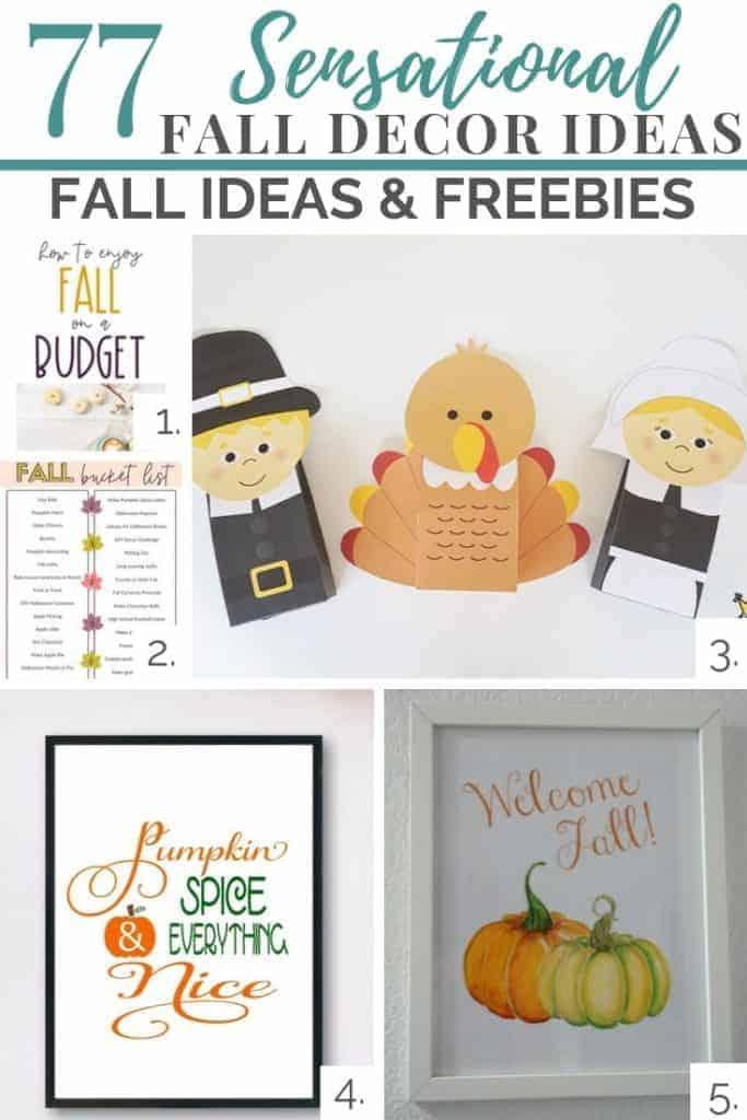 fall ideas and freebies