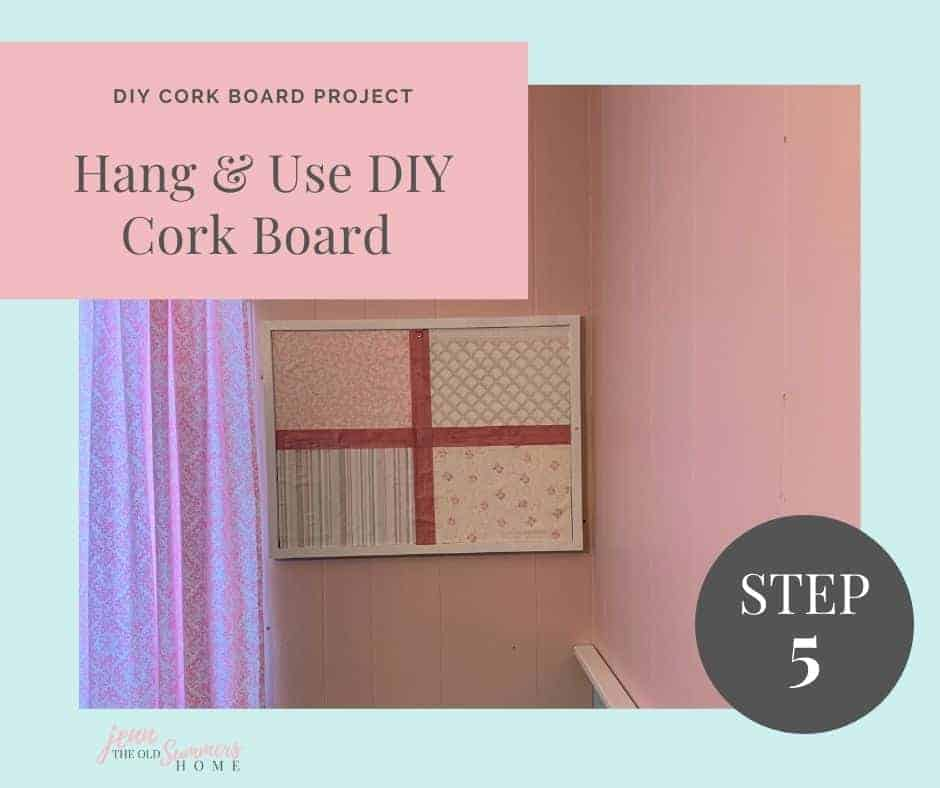 hang your new cork board