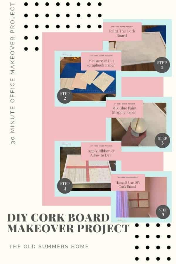 diy cork board makeover project