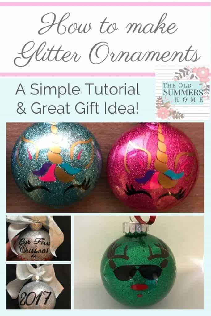 6 easy diy glitter ornaments for christmas tutorial - Amanda Seghetti