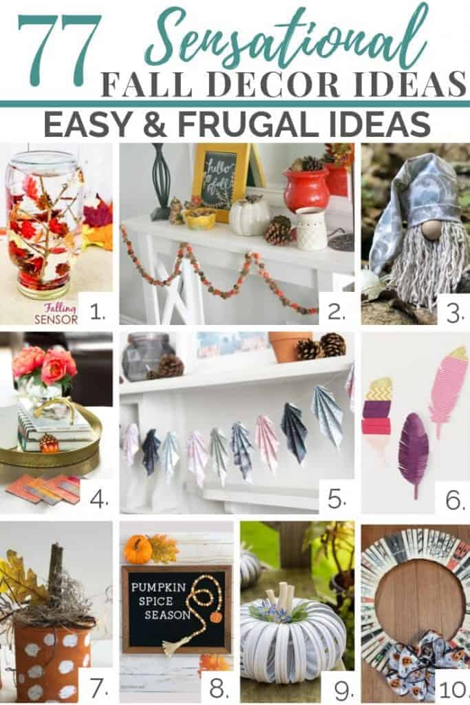 easy and frugal fall decor ideas