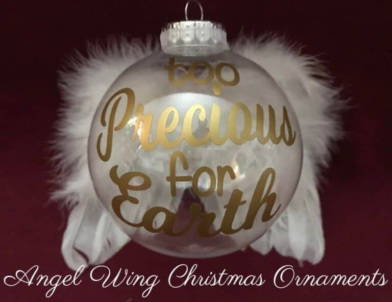 How to Make Breathtaking Angel Wing Christmas Ornaments