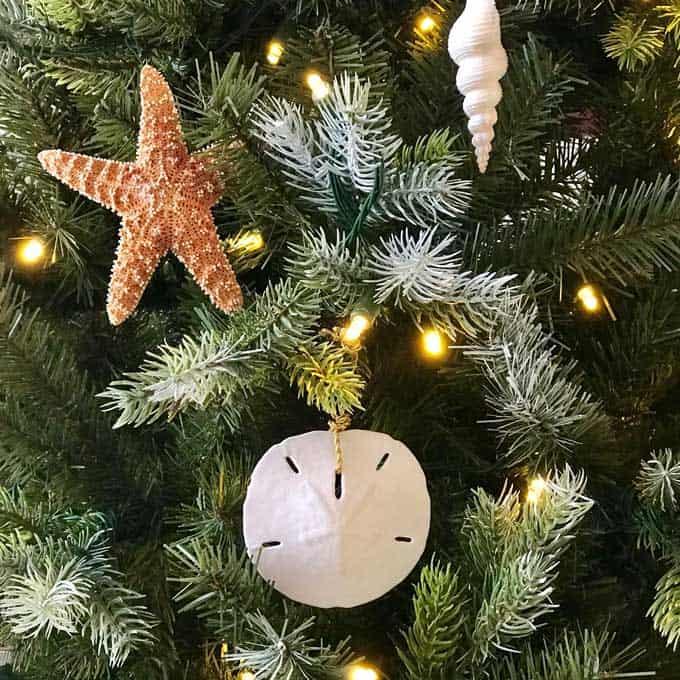DIY beach Christmas ornaments