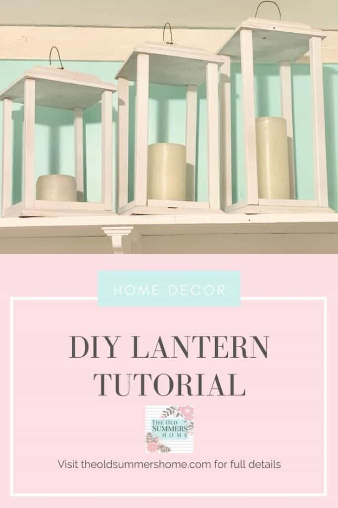 DIY Lantern Tutorial simple pin
