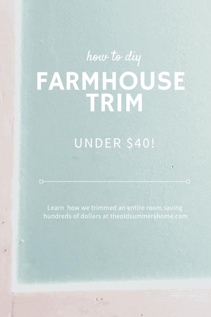 DIY farmhouse trim pin