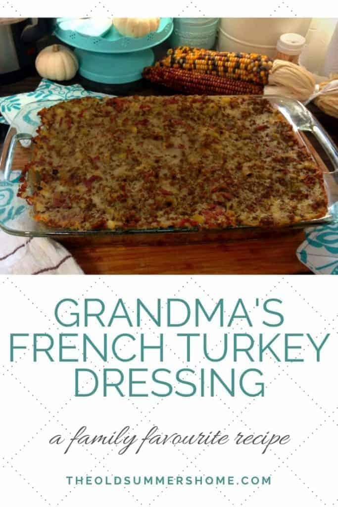 Grandmas French Turkey Dressing pin