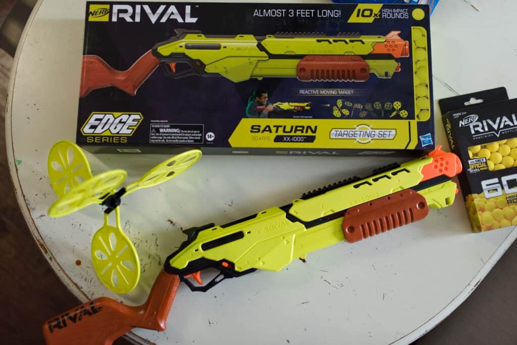 NERF RIVAL SATURN and reactive target
