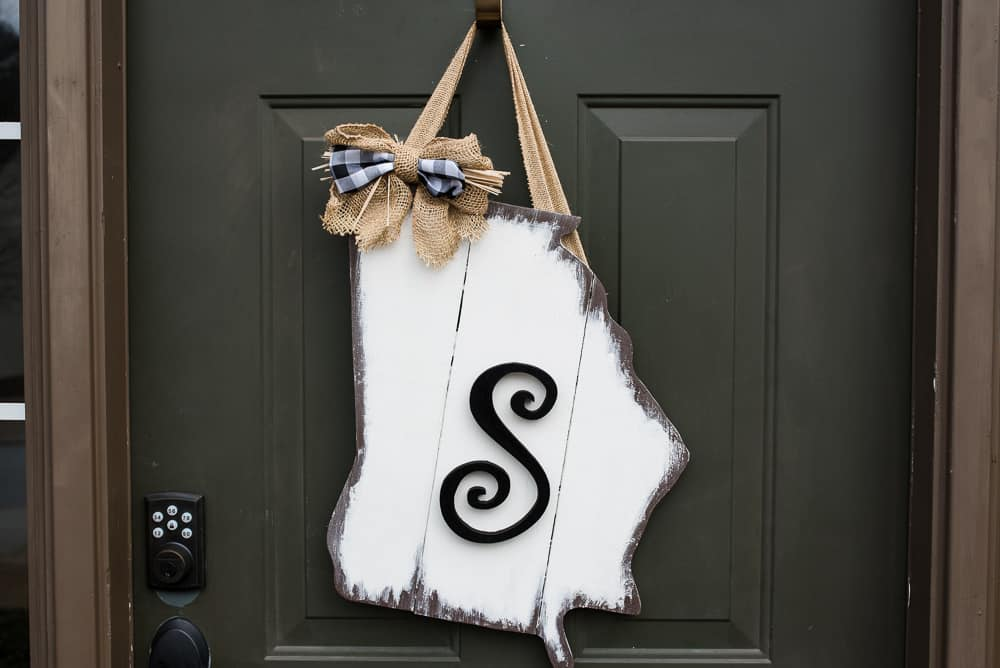 Personalized State door decor