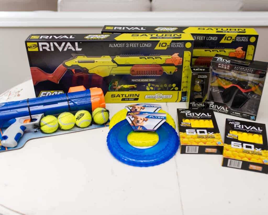 collection of NERF products