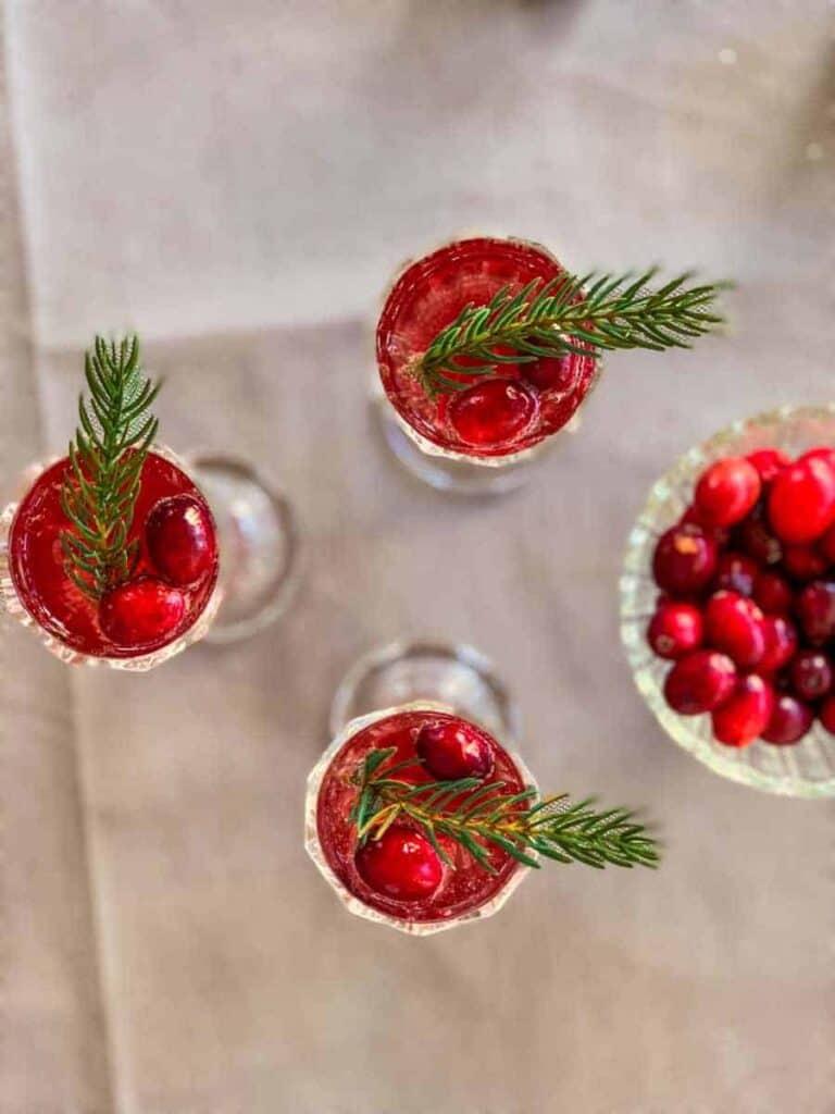 cranberry champagne cocktail 2 - Amanda Seghetti