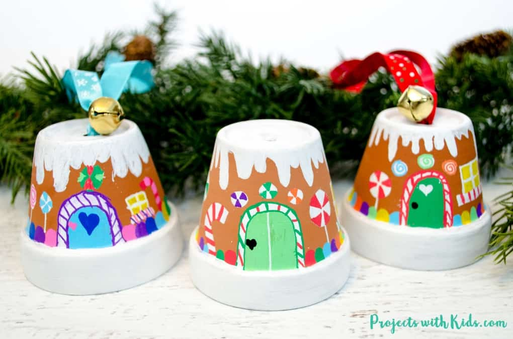fun gingerbread house ornaments