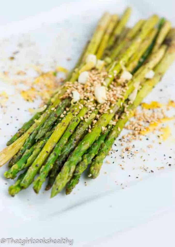 lemon pepper air fried asparagus2 - Amanda Seghetti