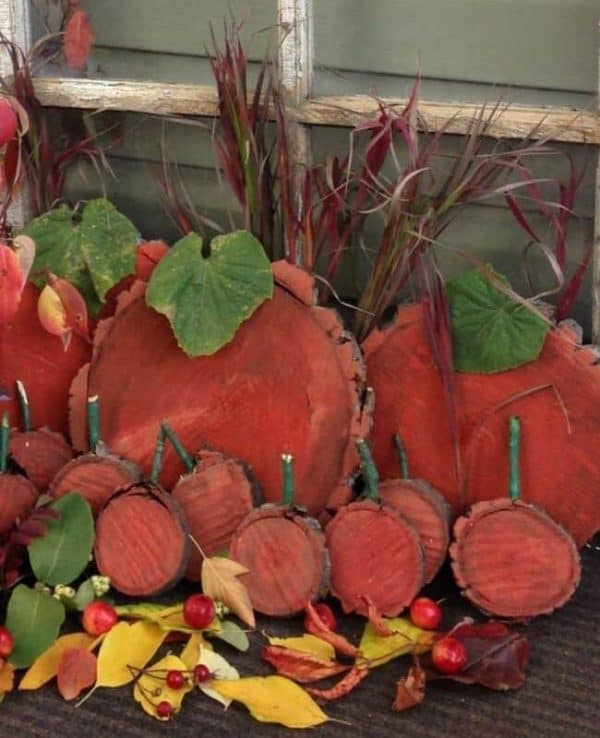 pumpkin patch for front porch fall decor