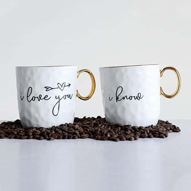 romantic coffee cups