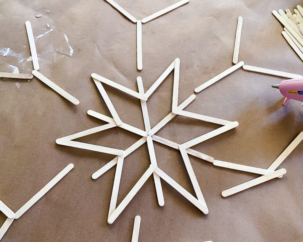 finish snowflake design