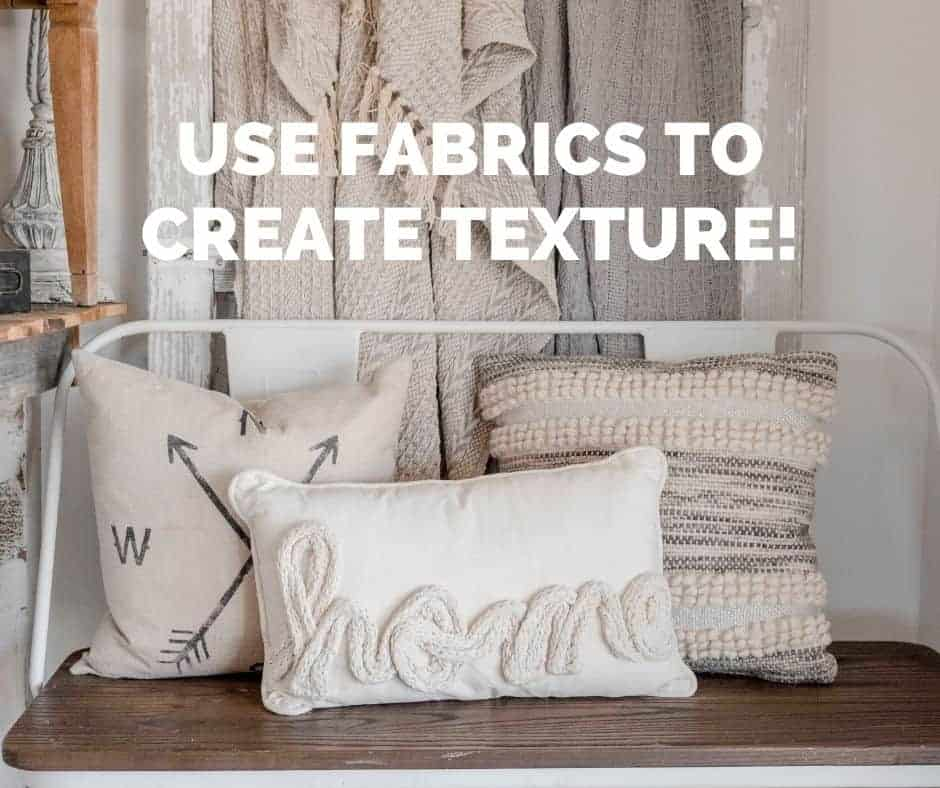 add texture with fabrics