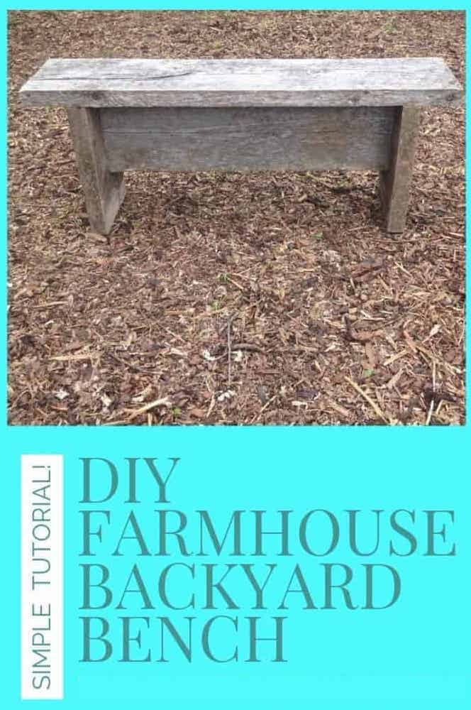 Create a rustic farmhouse-style bench with our simple DIY backyard bench tutorial!