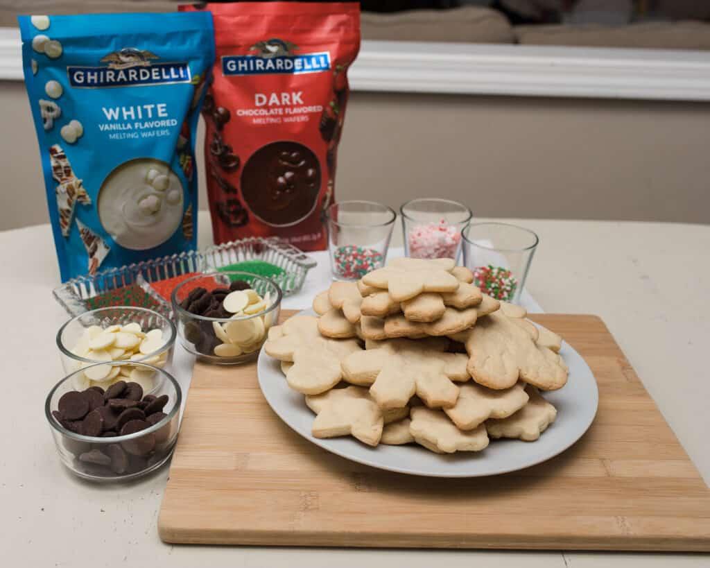 Dipped holiday cookies ingredients