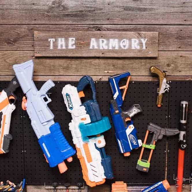 NERF Armory DIY Nerf Storage