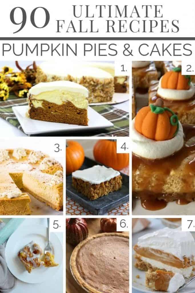 Pumpkin Pies & Cakes