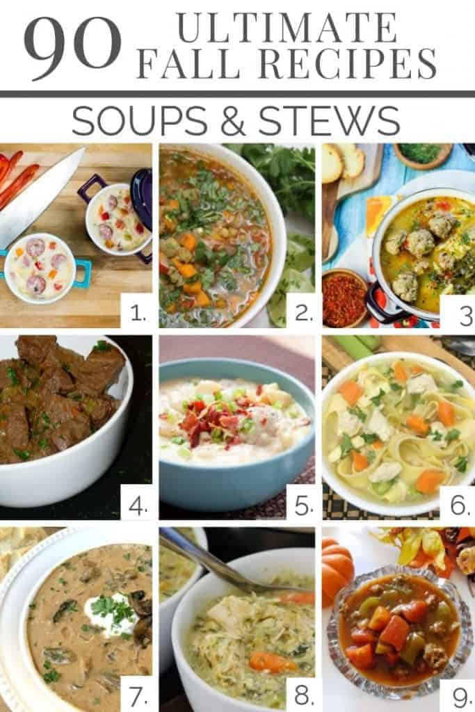 90 fall recipes that are delicious and easy! Here are recipes 1-9 of soups & stews!