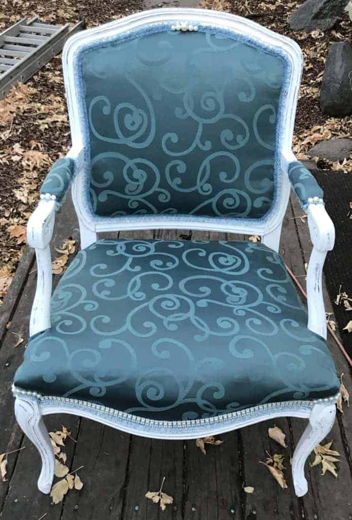 finished victorian chair makeover diy tutorial