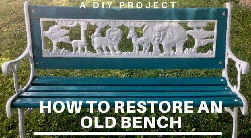 Bench restoration with Rustoleum paint