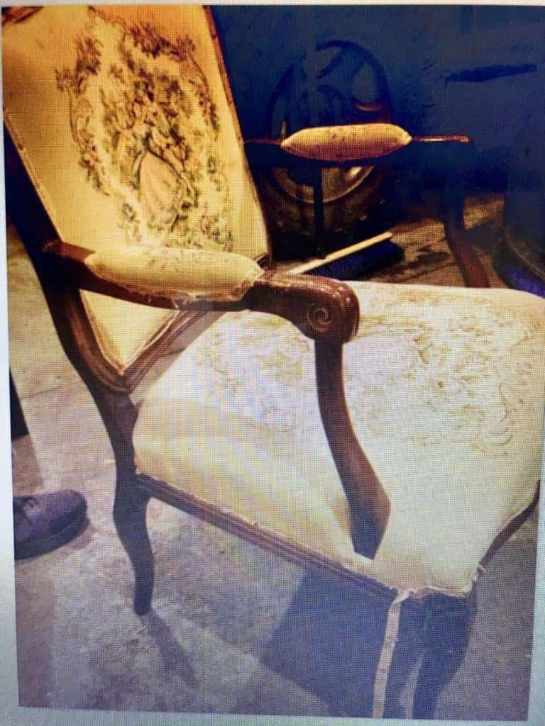 victorian chair makeover - Amanda Seghetti