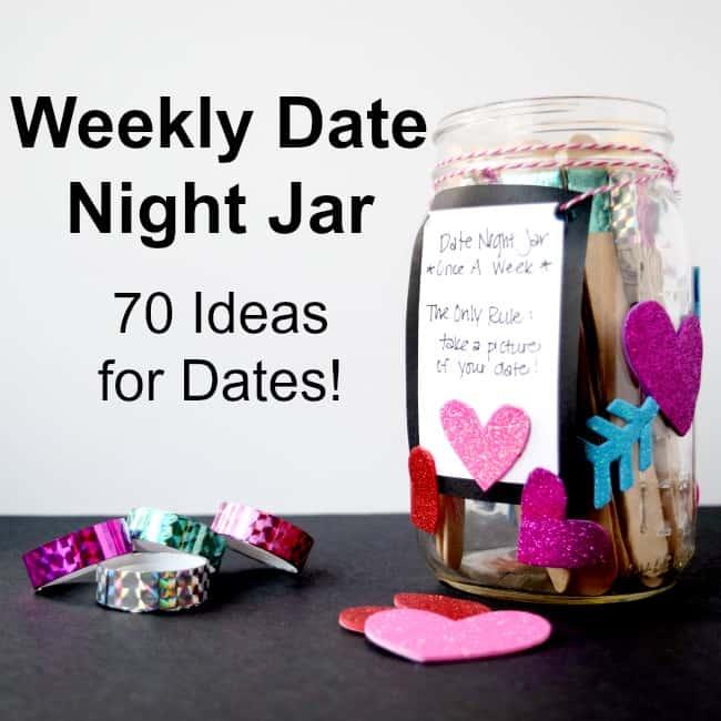 70 ideas for dates and a weekly date night jar - Amanda Seghetti