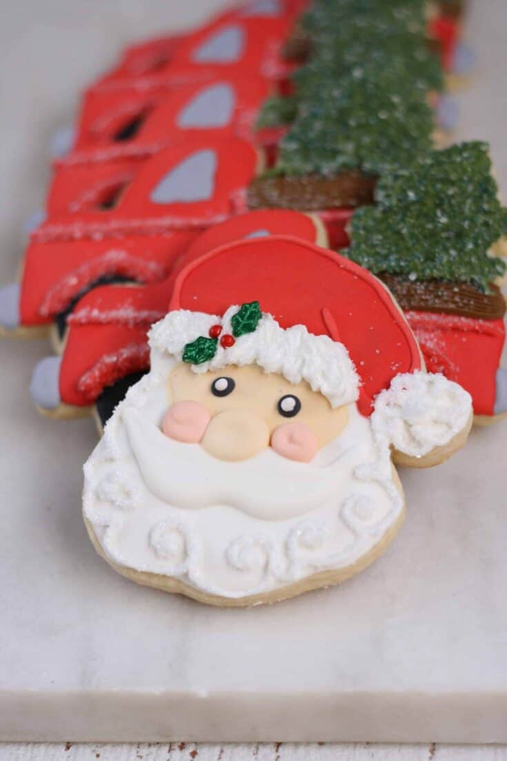 Decorated Sugar Cookies Santa scaled 1 - Amanda Seghetti