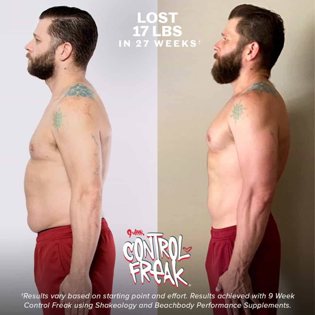 9 week control freak before and after results for men