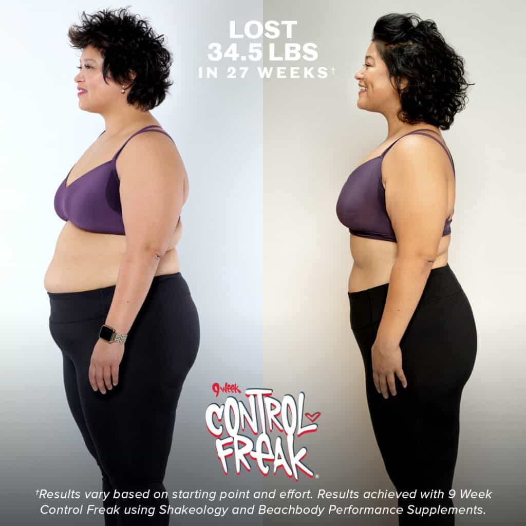9 week control freak before and after results for women